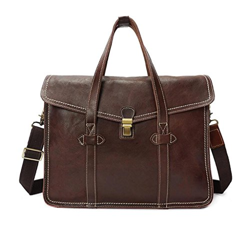 Vendimia Bolso Usable Solo Cuero Regalo Durable Bolso la de Mensajero de de de Estilo coffee y Perfecto Hombro Bolso color con SHOUTIBAO Brown wan4YzXz