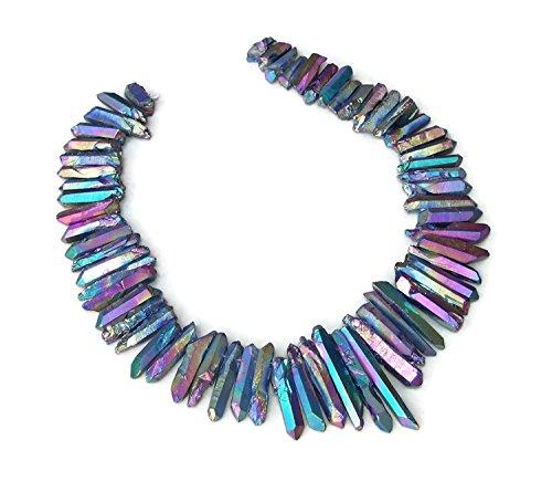 Titanium Quartz Crystal Necklace - 9