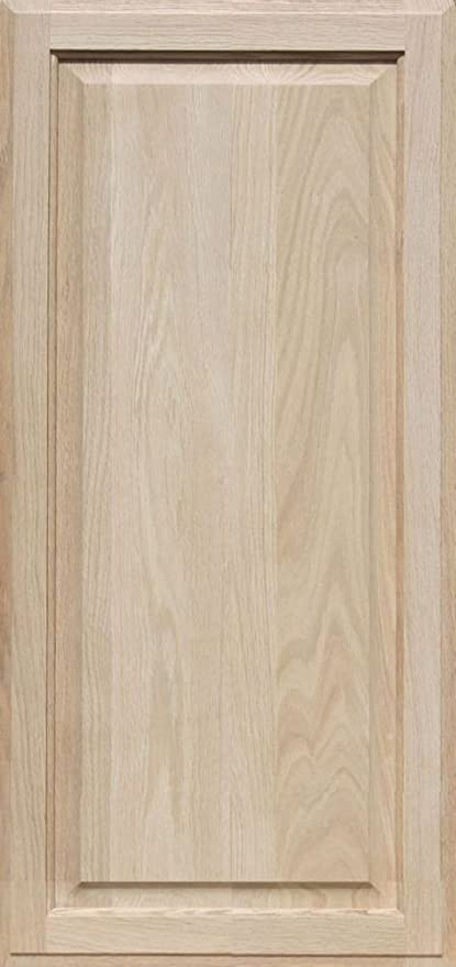 Unfinished Oak Cabinet Door Square with Raised Panel by Kendor 36H x 17W & Unfinished Oak Cabinet Door Square with Raised Panel by Kendor 36H ...