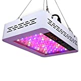 Cheap MarsHydro Mars300 LED Grow Light with Veg/Bloom Spectrum for Hydroponic Indoor Greenhouse/Garden Plant Growing, 132W True Watt Panel