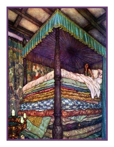 Originals Cross Stitch Pattern (Princess and the Pea by Edmund Dulac Counted Cross Stitch Pattern)