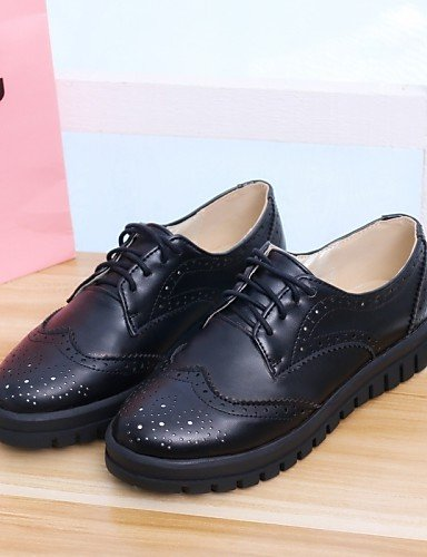 Toe Office Women Shoes Cn38 Round us7 White Work Nero Round Heel 5 Black Dressy Uk5 5 Casual Hug Njx Leatherette Eu38 wPE5RqEt