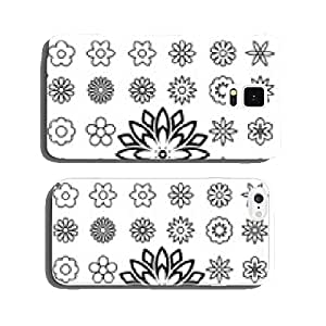 Set of flower line icons cell phone cover case iPhone5