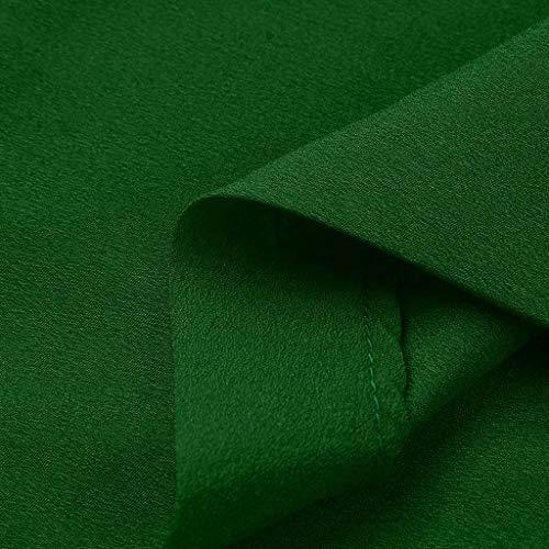 Top In Camicia Donna Verde Corta Poliestere Amlaiworld Camicetta Manica Loose Estate Moda Sexy Maglietta Tinta Casual Unita Maglia 0Aza0xqUw