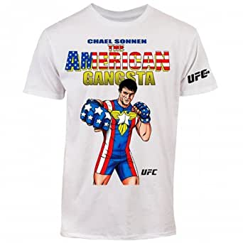 UFC 148 Men's Chael Sonnen American Gangsta T-Shirt (White, Small)