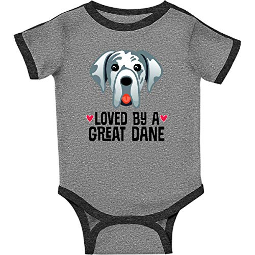 inktastic - Great Dane Infant Creeper 24 Months Ringer Heather and Smoke 333a8