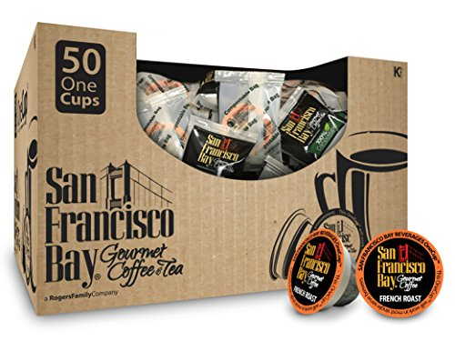 San Francisco Bay- Post OneCups- French Roast, 50 Count- SINGLE WRAP- Single Serve Coffee, Compatible with Keurig K-cup Brewers