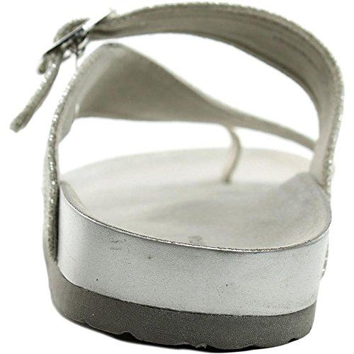 White Mountain 'Henri' sandalias de la mujer White-Glitter