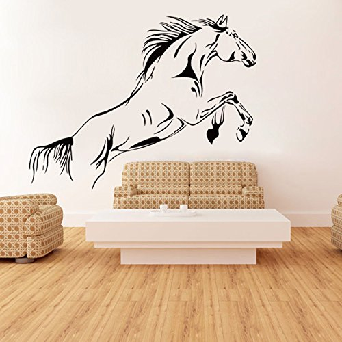 Ferris Store Jumping Horse Animals Art Murals PVC Removable Living Room Decorations Wall Stickers 36x20