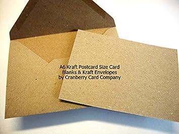 A6c6 kraft recycled fleck postcard blanks envelopes by cranberry colourmoves