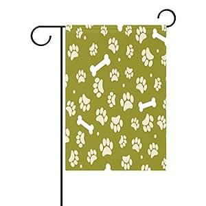 wozo huellas de perro Hueso jardín bandera poliéster bandera al aire libre casa fiesta