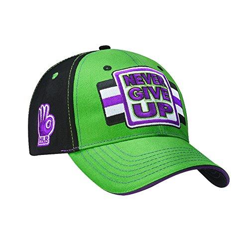 more photos 0329e f1887 ... John Cena WWE Never Give Up Green Purple Baseball Hat Headband  Wristband Set ...