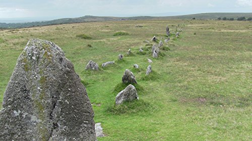 Bronze Age Stone Rows At Merrivale Nature Poster Print 24x 36