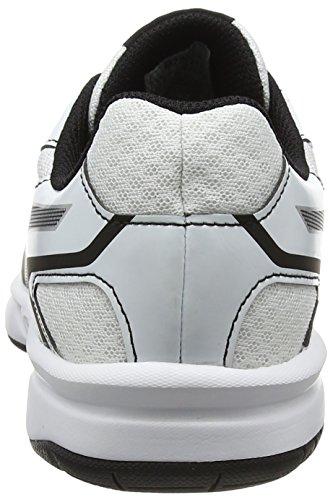 Schwarz Silver White Asics Black 2 Hallenschuhe Upcourt Damen 9093 nx70Y0wBa