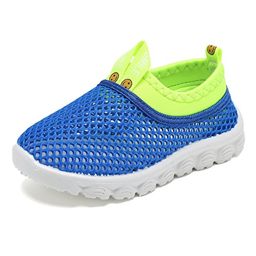 CIOR Kids Light Weight Sneakers AquaShoes Breathable Slip-on For Running Pool Beach Toddler / Little Kid,S633Blue,32 0