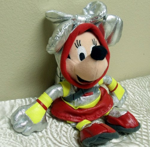 "Disney Mickey Mouse Clubhouse 8"" Minnie Mouse Astronaut Bean Bag Doll"