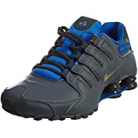 dcced7cc9b31 Nike Shox NZ SE Men s Shoes Dark Grey Metallic Gold Hyper Cobalt 833579-