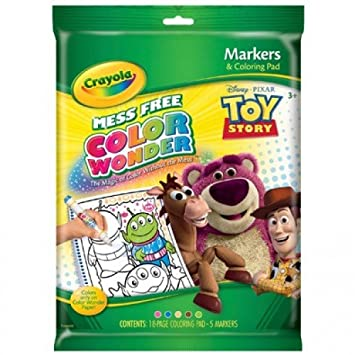 crayola color wonder toy story coloring book and markers