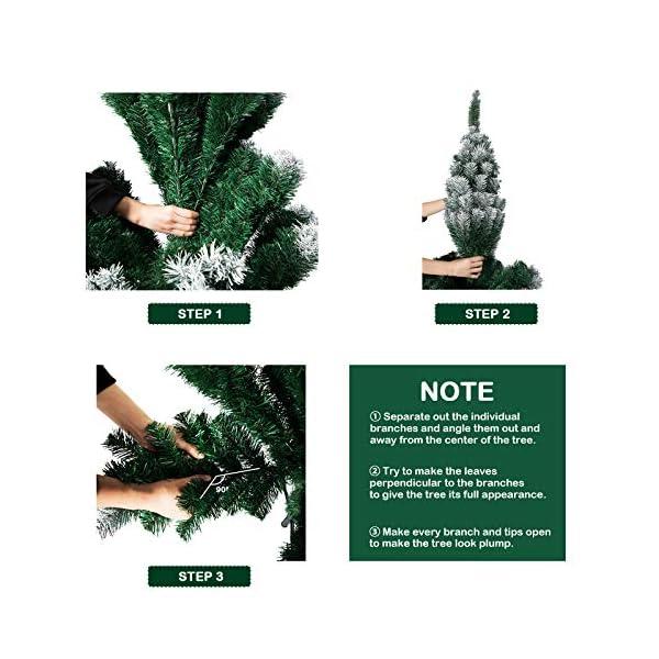 TopVita Albero di Natale Bianco Verde, Albero di Natale Artificiale in PVC Ignifugodi in Diverse Misure (Verde e Bianco, 2,4 Metri) 4 spesavip