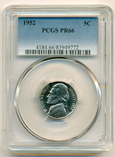 1952 Jefferson Proof Nickel PR66 PCGS
