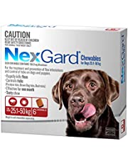 Nexgard, Flea & Tick Monthly Chew, Dog, 25.1-50kg, 6pk