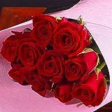 バラギフト専門店のマミーローズ 選べるバラ本数セレクト 還暦祝い 誕生日 プロポーズ 贈り物の豪華なバラの花束(生花) 赤 10本