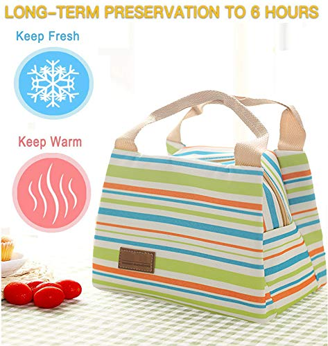 OENEW Lunch Bag for Men Women,Durable Insulated Lunch Bag to Keep Fresh Food for Work/School/Picnic/Beach (Green)