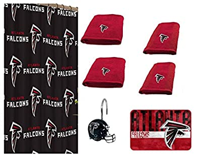 Amazon NFL Atlanta Falcons 18 Piece Bath Ensemble Set