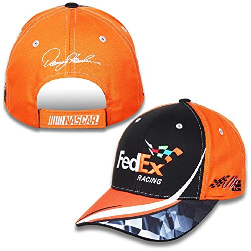 nascar-adult-drivers-salute-racing-hat-cap-denny-hamlin-11-fedex-orange-black