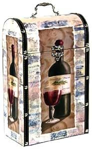 Estrategias Pinnacle de piel y madera vino maleta Decor ...