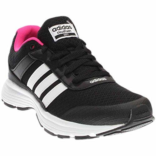 adidas Performance Women's Cloudfoam Vs City w Running Shoe, Black/White/Shock Pink S, 8 M US
