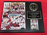 St Louis Cardinals 2006 World Champions Collectors Clock Plaque #2 w/8x10 Photo and Card
