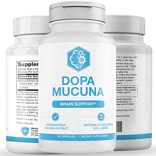 UMZU: Dopa Mucuna - Brain and Mood Support - 90 Capsules - All Natural Ingredients - Improve Memory and Cognitive Function - Stimulate Dopamine Production - Research-Backed Ingredients