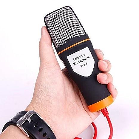 Buwico® Clavija Jack de 3,5 mm, universal Condensador Micrófono Grabación de Sonido