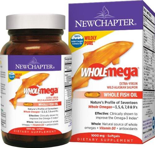 Новая глава Wholemega Всего рыбий жир, 120 Softgels