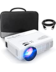 Mini Projector, 1080P and 200'' Display Supported, Portable Movie Projector with 50,000 Hrs LED Lamp Life, Compatible with TV Stick, PS5, HDMI, VGA, TF, AV and USB for Home Theater and Entertainment