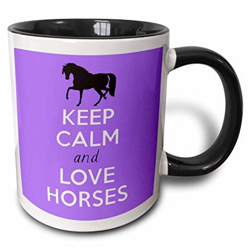 3dRose mug_193616_4 Horses Purple Black