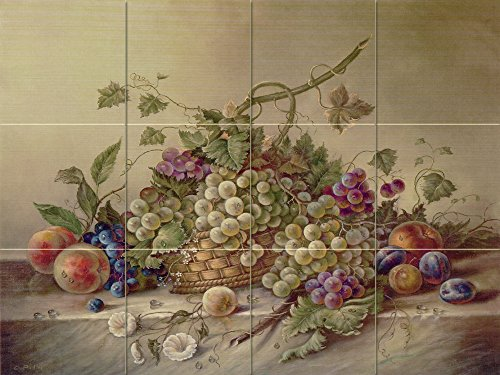 Ceramic Tile Mural - Fruit Bouquet II - by Corrado Pila - Kitchen backsplash / Bathroom shower 4x3 6