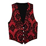 Victorian Vagabond Steampunk Gothic Brocade Men's Vest 5