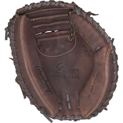 Rawlings 2017 Sporting Goods Player Preferred Catcher's Mitt, Brown, Size 33, Worn on Left Hand