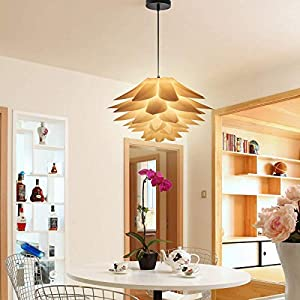 DIY Kit Lotus Chandelier IQ PP Pendant Lampshade Suspension Ceiling Pendant Chandelier Light Shade Lamp for Holiday,Living Room,Bedroom,Study,Dining Room Decor Lighting