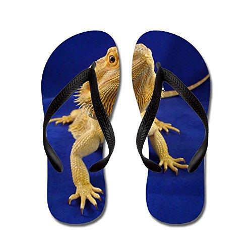 CafePress Bearded Dragon - Flip Flops, Funny Thong Sandals, Beach Sandals Black