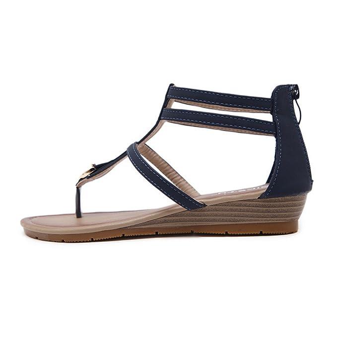 5567f95abc0239 Clearance Women Flat Shoes Bohemia Lady Slippe Sandals Rivet Peep-Toe  Outdoor Shoes (35