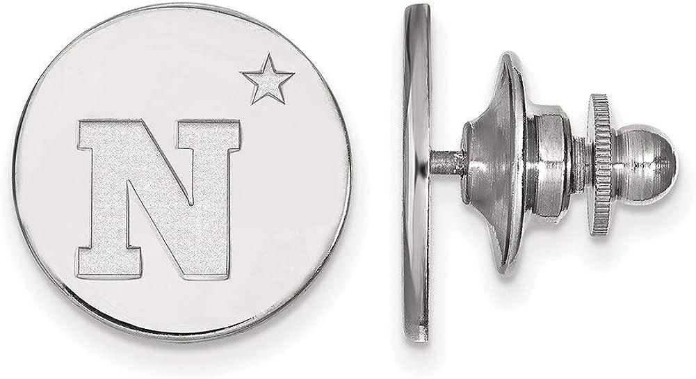 Lex /& Lu LogoArt Sterling Silver Navy Lapel Pin LAL142995