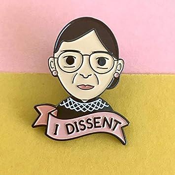 QISKAII Yo disiento! Nuevo Ruth Bader Ginsburg RBG Avatar Alfileres de Solapa Joyas Feministas Revolución Feminista Esmalte Broches Insignias Alfiler: Amazon.es: Juguetes y juegos