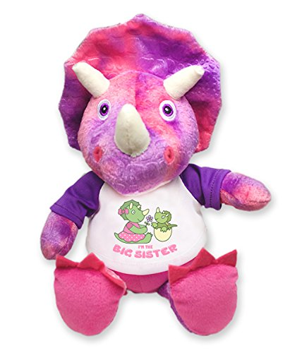 I'm The Big Sister Pink Triceratops Plush Dinosaur