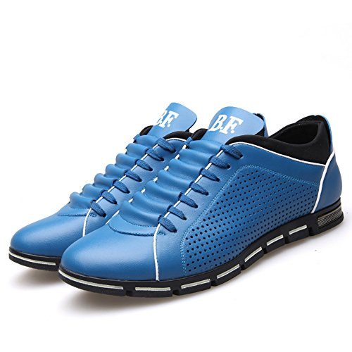 Outdoor Casual out Shoes Hiking XiaoYouYu Hollow Blue Summer Leather Men's HExIwqY