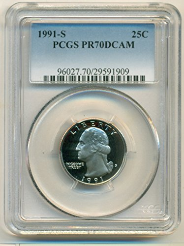 1991 S Washington Proof Quarter PR70 DCAM PCGS