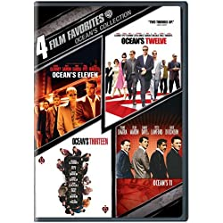 4 Film Favorites: Ocean's Collection (Ocean's 11 (1960), Ocean's Eleven (2001), Ocean's Twelve, Ocean's Thirteen)