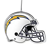 NFL San Diego Chargers Flat Metal Helmet Ornament